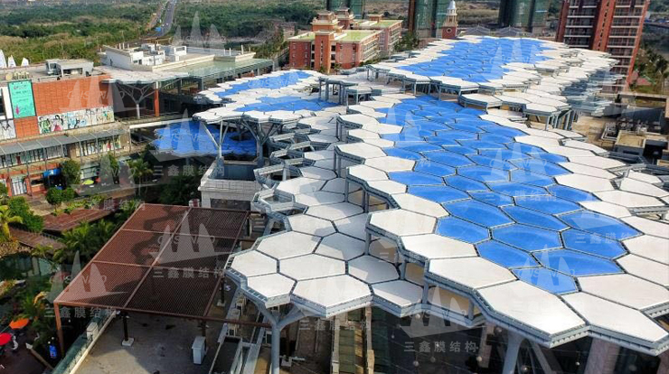 The ETFE Gas Occipital Membrane & PTFE Velarium Membrane Structure Project of Haikou Guanlanhu D