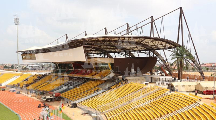 The Membrane Structure Project of Africa Camaroon Ahldjo Stadium