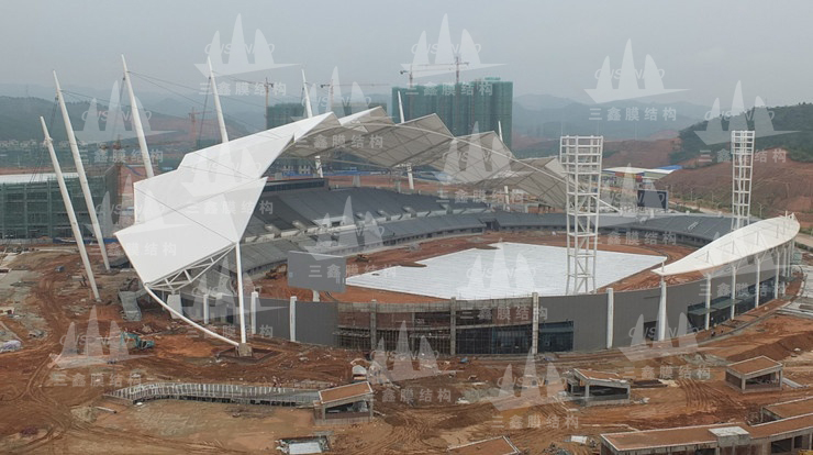 The Membrane Structure Project of the East & West Stands of Guangxi Wuzhou Stadium