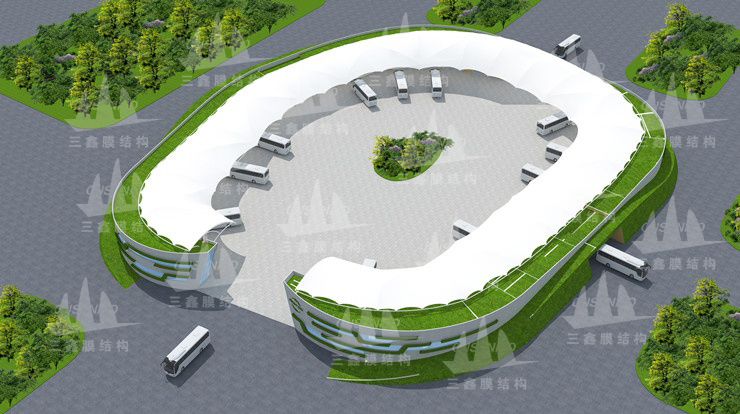 The Membrane Structure Project of Malaysia Country Garden Forest CIty Traffice Centre
