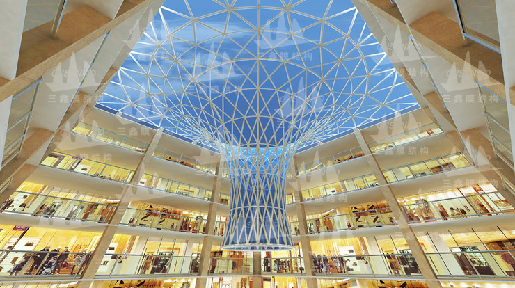 The ETFE Gas Membrane Structure Project of Malaysia Kuala Lupmur Dome and Water Feature