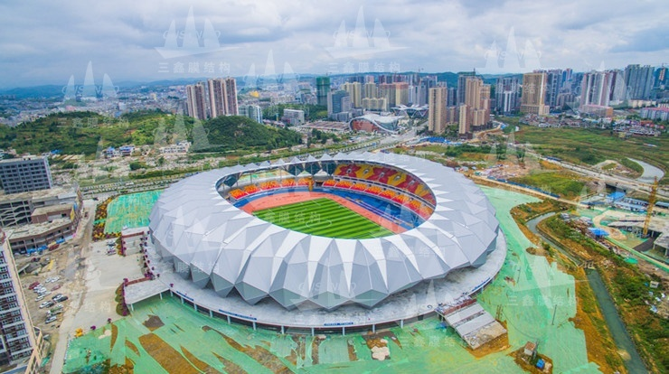 The PTFE Membrane Structure Project of Guizhou Qianxi Sports Centre